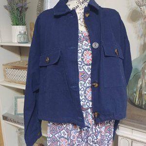 Zara TRF Collection Navy Jacket